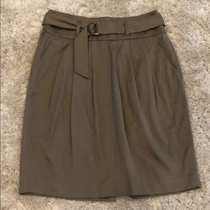 Banana Republic Pleated Belted Skirt NWT